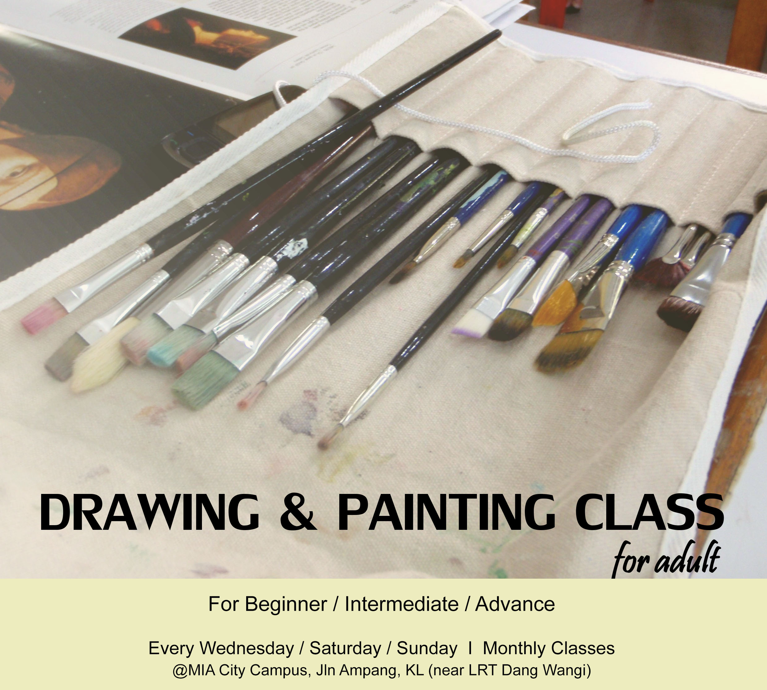 Drawing & Painting Class for Beginner / Intermediate / Advance
