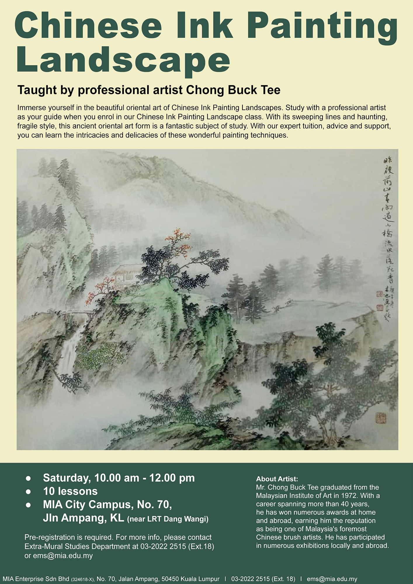 Chinese Ink Painting Landscape Class